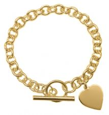 ANTOMUS® 18K GOLD VERMEIL SOLID 925 STERLING SILVER HEAVY LINK TRACE BRACELET WITH T BAR